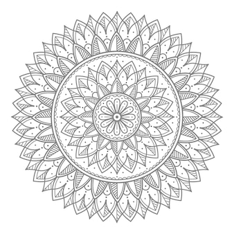 Illustration de mandala ornement rond décoratif floral