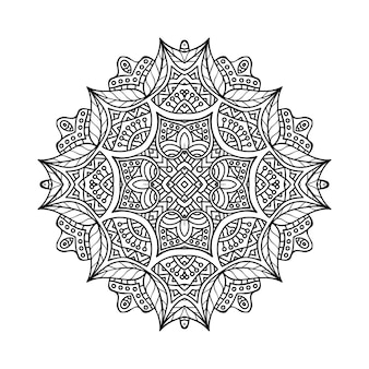 Illustration de mandala ornemental de luxe