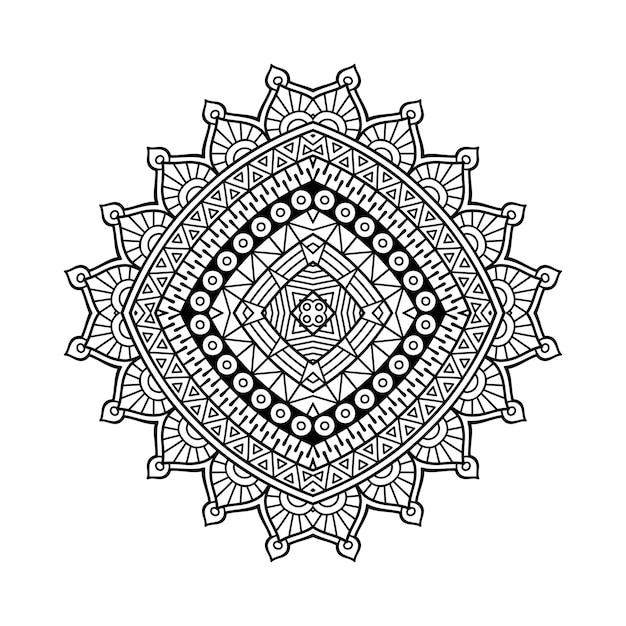 Illustration de mandala ornemental de luxe