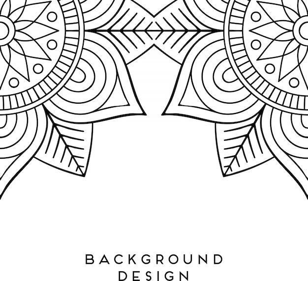 Illustration de mandala ornementale de luxe