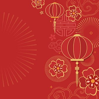 Illustration de la maquette du nouvel an chinois