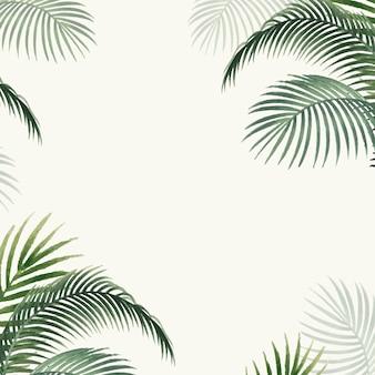 Illustration de la maquette de feuilles de palmier
