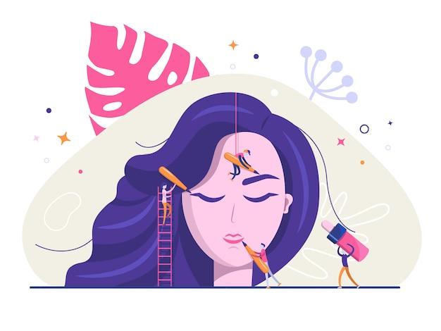 Illustration de maquillage permanent