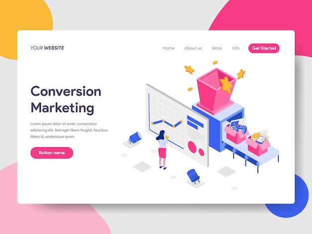 Illustration de marketing de conversion