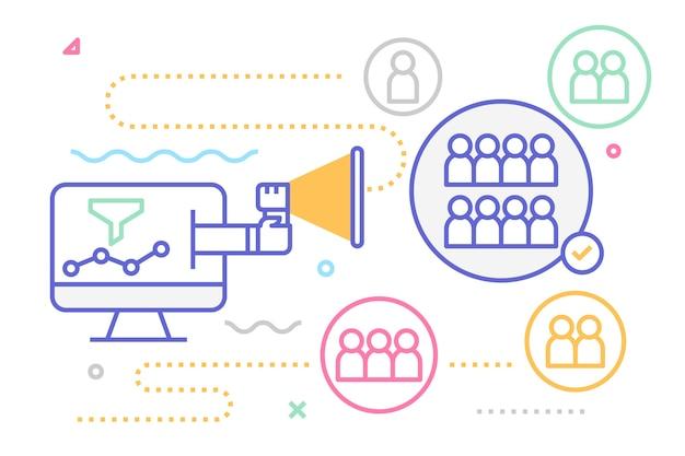 Illustration de marketing numérique