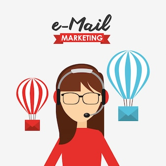 Illustration marketing par courrier électronique