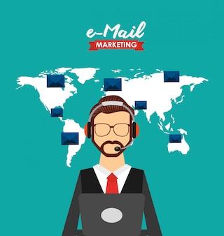 Illustration marketing par courrier électronique