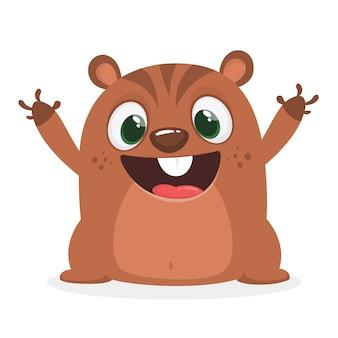 Illustration de marmotte de dessin animé