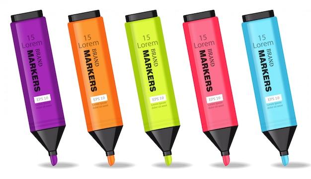 Illustration de marqueurs colorés