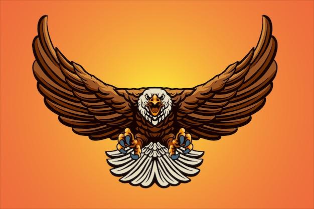 Illustration de mascotte aigle