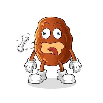 Illustration de mascotte de burp de fruits de date