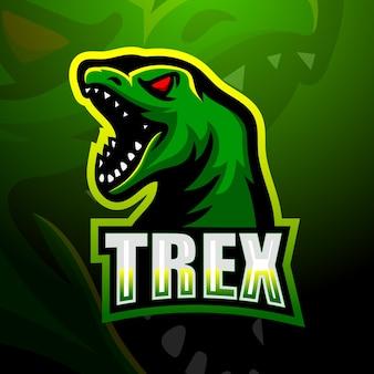 Illustration de mascotte de dinosaure trex
