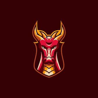 Illustration de mascotte de dragon