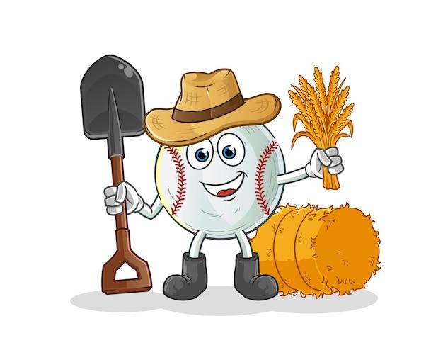 Illustration de mascotte de fermier de baseball