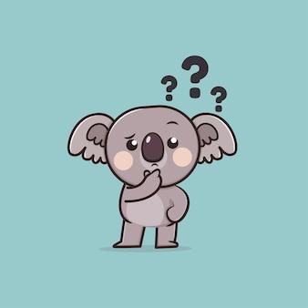 Illustration de mascotte kawaii cute animal wildlife koala icon