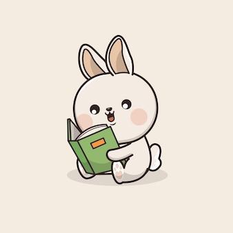 Illustration de mascotte kawaii cute bunny rabbit icon