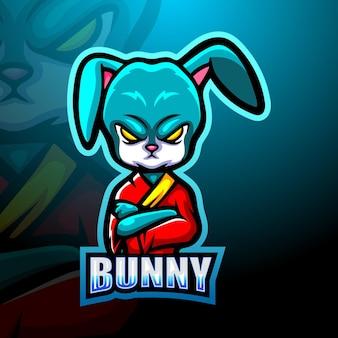 Illustration de mascotte de lapin