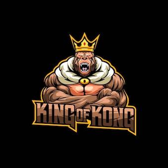 Illustration de mascotte logo roi du roi