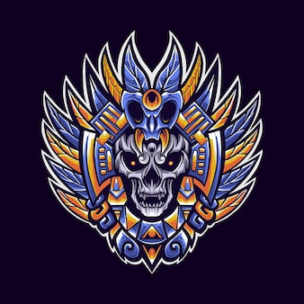 Illustration de mascotte de logo tribal chaman