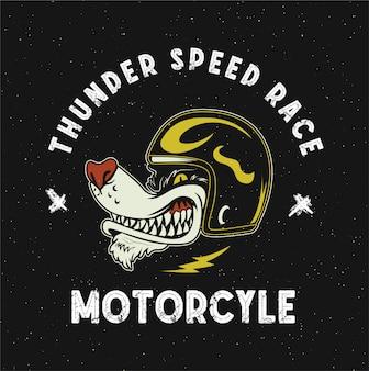 Illustration de mascotte de moto