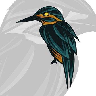 Illustration de mascotte oiseau majestueux menthe