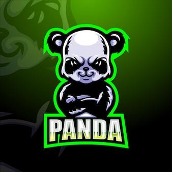 Illustration de mascotte de panda