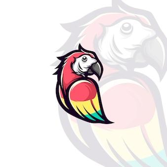 Illustration de mascotte de perroquet