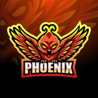 Illustration de la mascotte phoenix