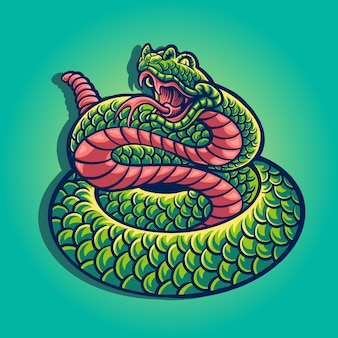 Illustration de mascotte de serpent