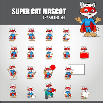Illustration de mascotte de super chat