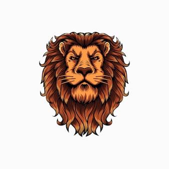 Illustration de mascotte de tête de lion