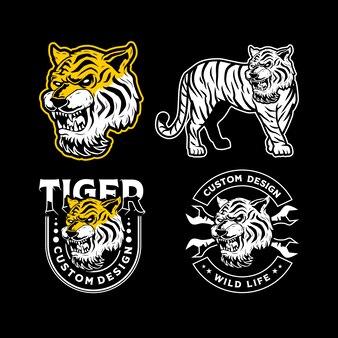 Illustration de mascotte de tigre