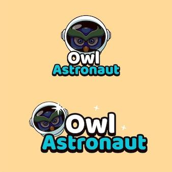 Illustration de mascottes de hibou astronaute