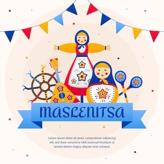 Illustration de maslenitsa colorée