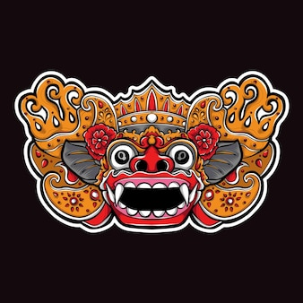 Illustration de masque de barong balinais