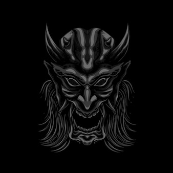 Illustration de masque de démon mecha