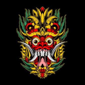 Illustration de masque de démon