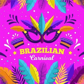 Illustration de masque dessiné main carnaval brésilien