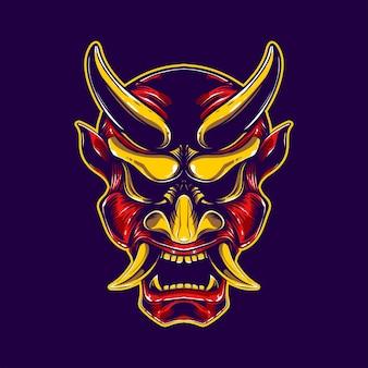 Illustration de masque de hanya rouge
