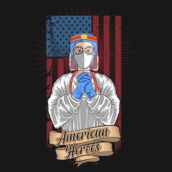 Illustration de médecin américain