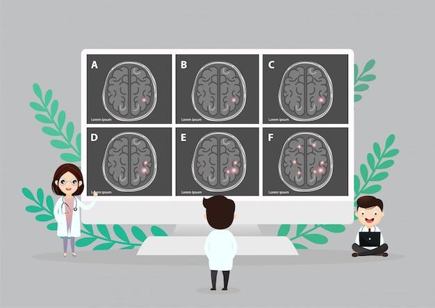 Illustration médicale scientifique de la course du cerveau humain
