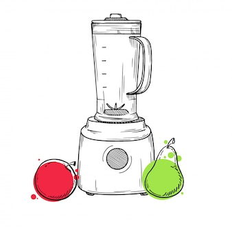 Illustration de mélangeur isolé