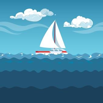 Illustration de la mer