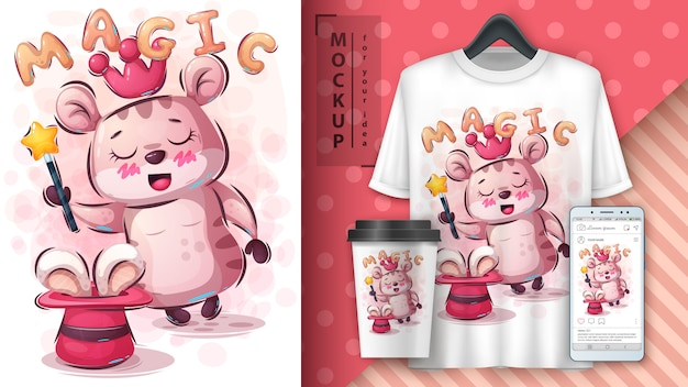 Illustration et merchandising de tours de magie