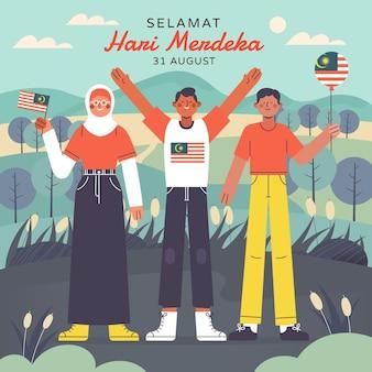 Illustration de la merdeka hari