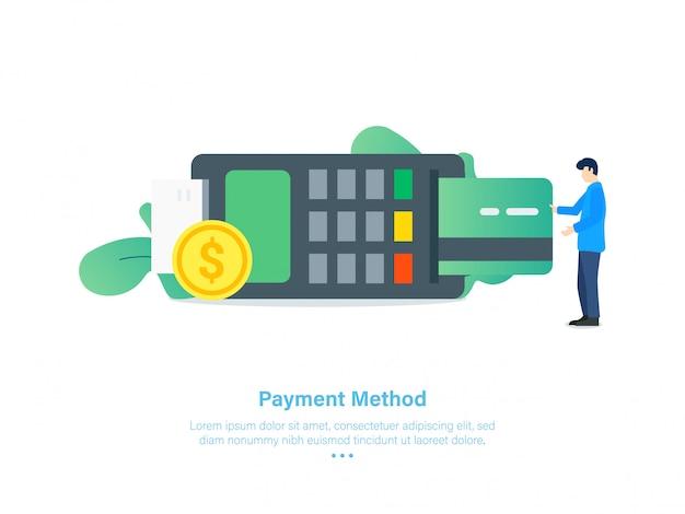 Illustration de méthode de paiement par carte de crédit