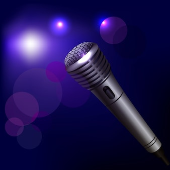 Illustration de microphone sur l'obscurité