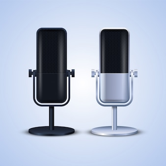 Illustration de microphones
