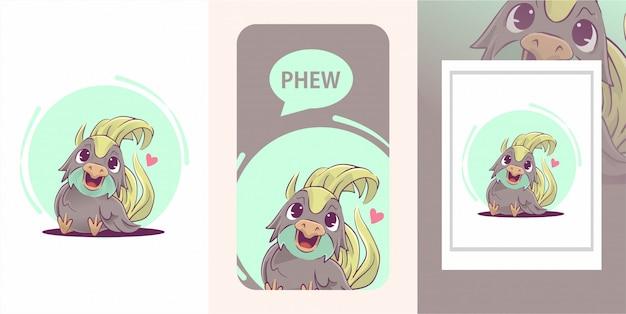Illustration mignonne de bébé oiseau