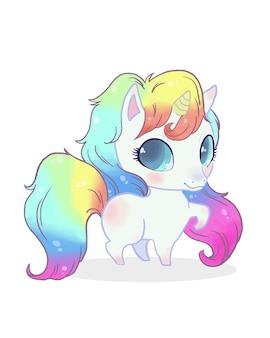 Illustration mignonne de poney